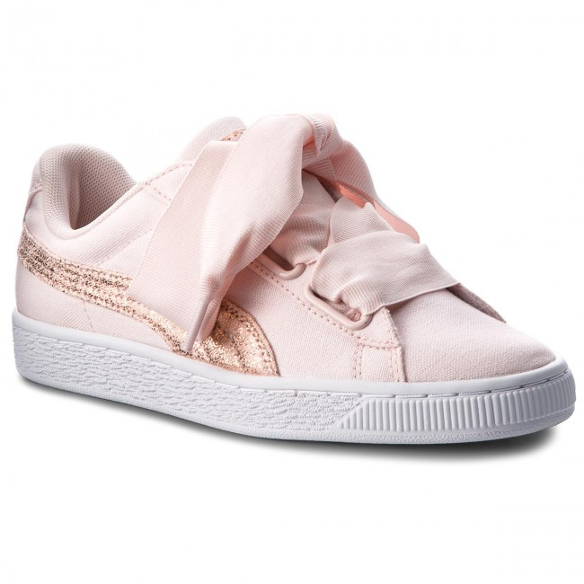 ef82897322ce Sportcipő PUMA - Basket Heart Canvas 366495 02 Pearl/Puma White/Rose Gold
