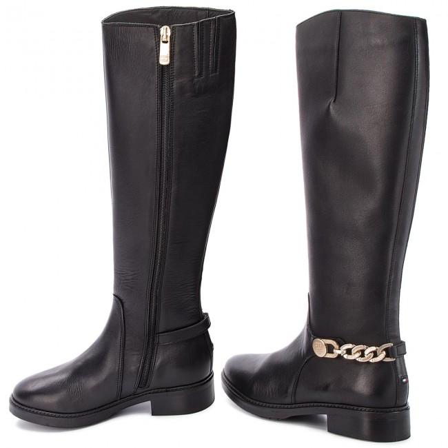 Lovaglócsizma TOMMY HILFIGER - Chain Long Boot L FW0FW03312 Black ... f7f505fa6a