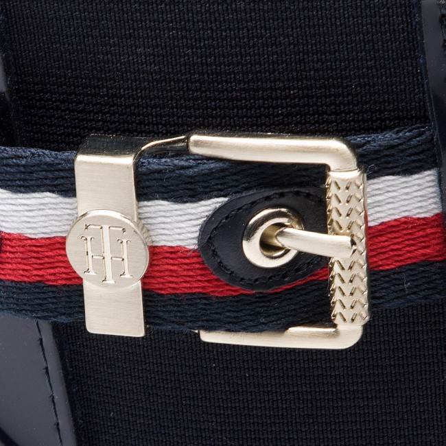 Gumicsizmák TOMMY HILFIGER - Corporate Belt Rain FW0FW03329 Midnight ... 8c57e582c6