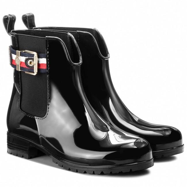 Gumicsizmák TOMMY HILFIGER - Corporate Belt Rain FW0FW03329 Black 990 -  Gumicsizmák - Csizmák és egyebek - Női - www.ecipo.hu 23a0ae548e