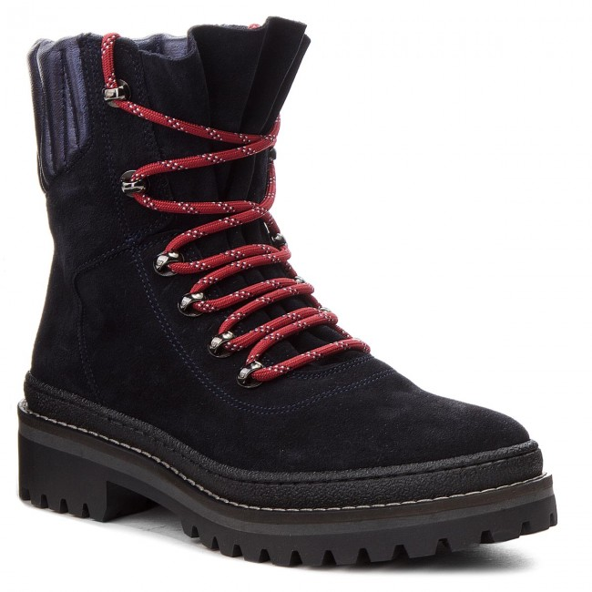 Bakancs TOMMY HILFIGER - Modern Hiking Boot Suede FW0FW03048 Midnight 403 619a92c730