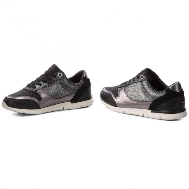 Sportcipő TOMMY HILFIGER - Sparkle Light Sneaker FW0FW03276 Black ... 6da4b93403