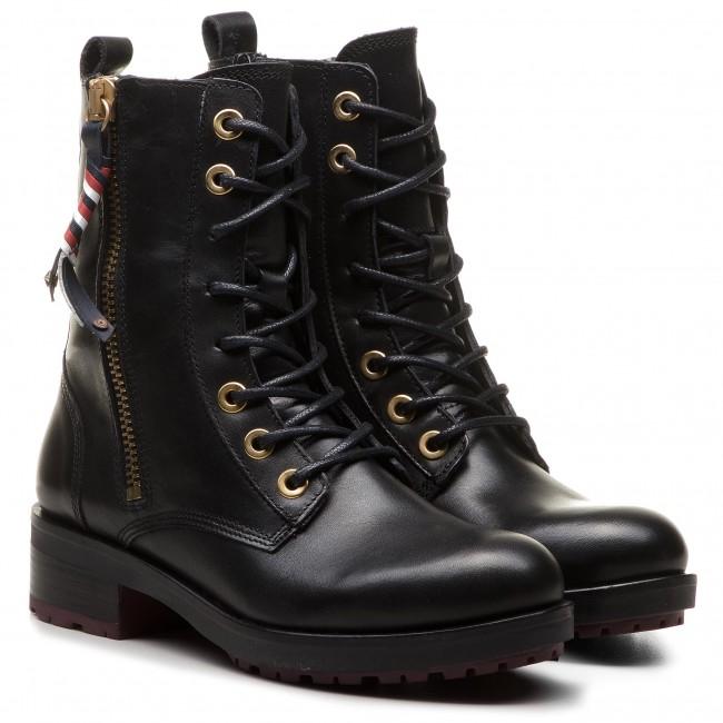 Magasított cipő TOMMY HILFIGER - Corporate Tassel Bik FW0FW03585 Black 990  - Magasított cipők - Csizmák és egyebek - Női - www.ecipo.hu 4e1096ca6e