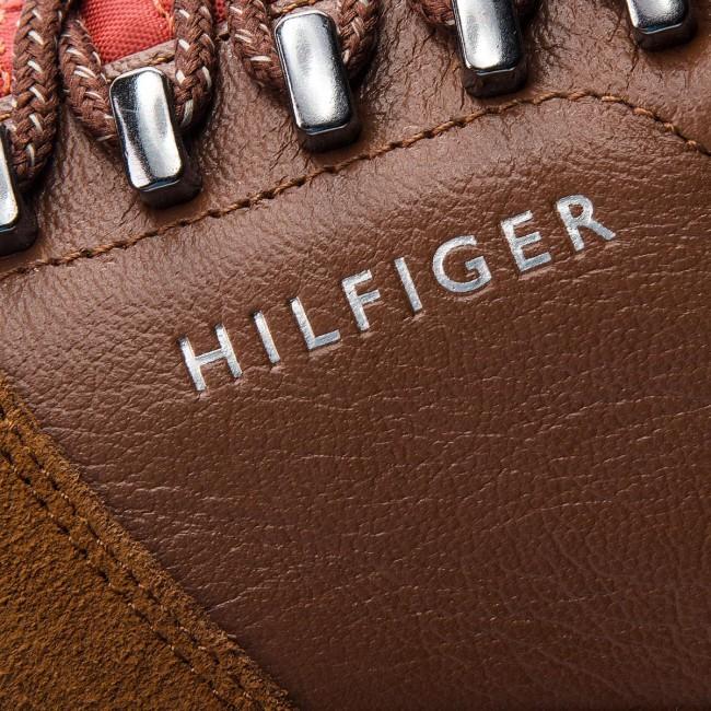 f9fef624624c7 Sportcipő TOMMY HILFIGER - Core Hiking Inspired FM0FM01833 Cognac ...