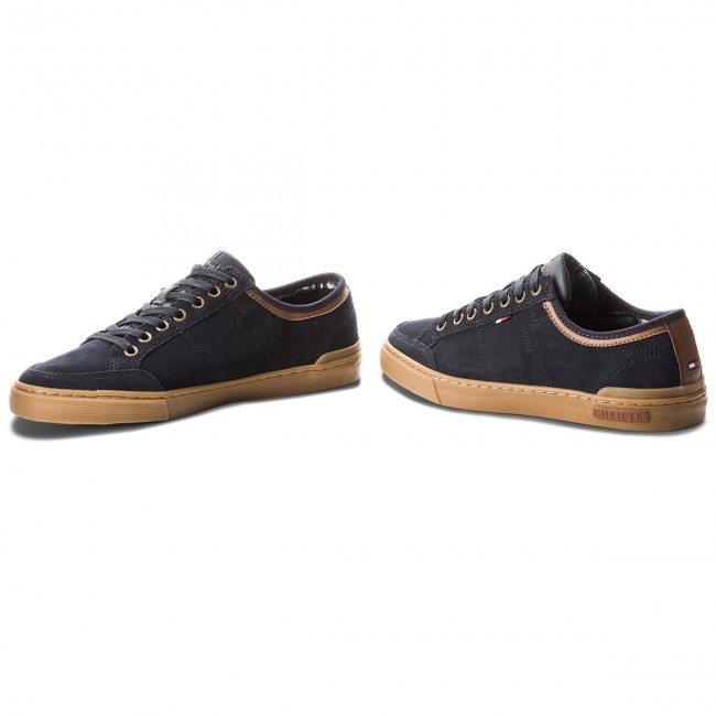 Teniszcipő TOMMY HILFIGER - Core Suede Lace Up S FM0FM01898 Midnight ... f6ed4ae77b