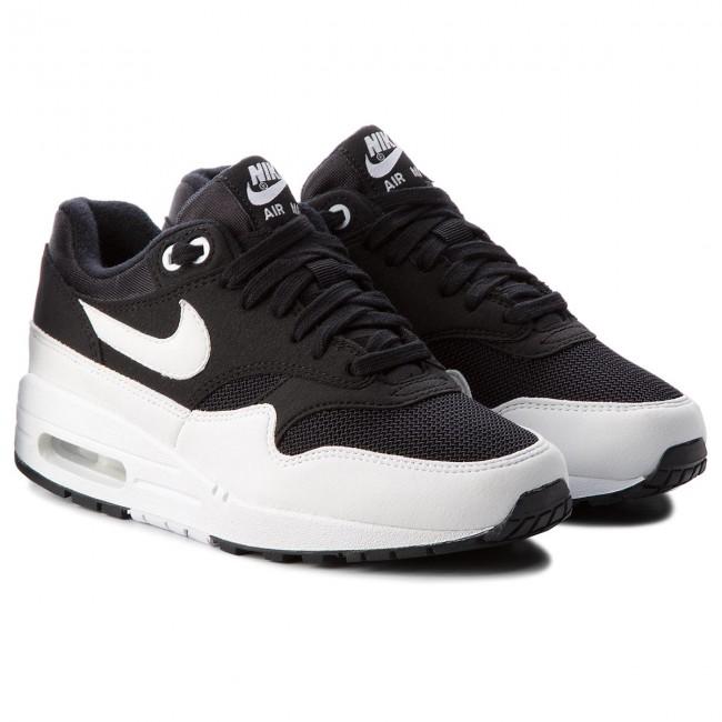 8e38e6b23b Cipő NIKE - Air Max 1 319986 034 Black/White - Sneakers - Félcipő - Női -  www.ecipo.hu