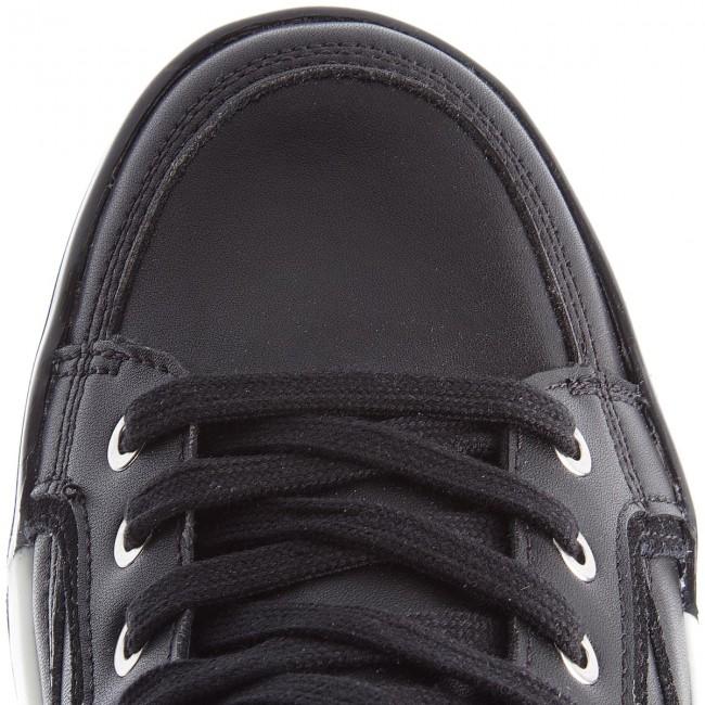 Sportcipő CALVIN KLEIN JEANS - Nicola S1774 Black/Black/Scarlet - Sneakers - Félcipő - Férfi Cycba