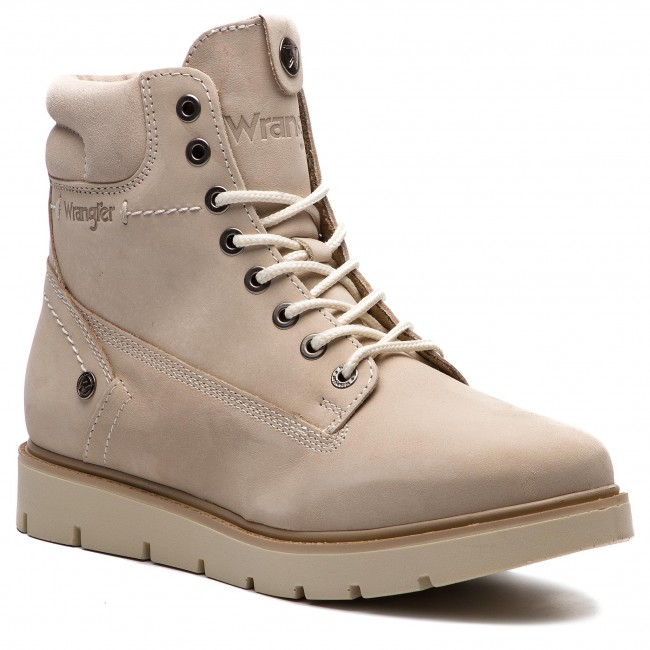 Magasított cipő WRANGLER - Tucson Lady Nubuck WL182510 Cream 182 ... 8682495ed2
