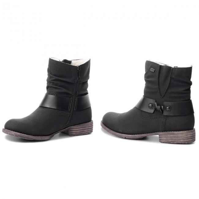 Magasított cipő RIEKER - 74736-00 Schwarz - Magasított cipők ... 5b6f067f1d