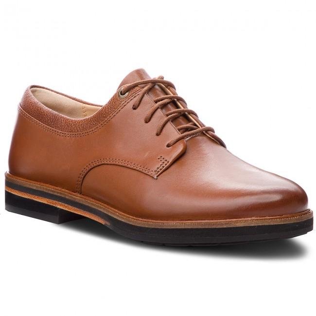 Oxford cipők CLARKS - Frida Derby 261359764 Dark Tan Leather ... dc6284dffd