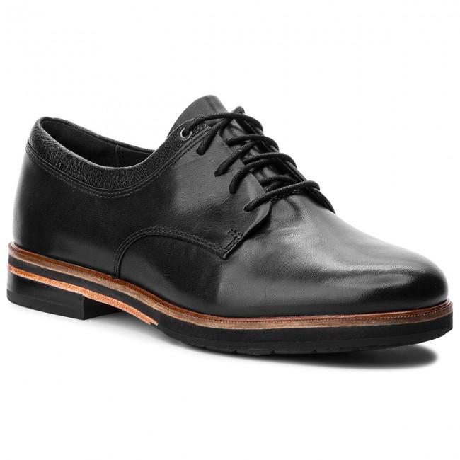 Oxford cipők CLARKS - Frida Derby 261359784 Black Leather - Oxford ... c7826e39e3