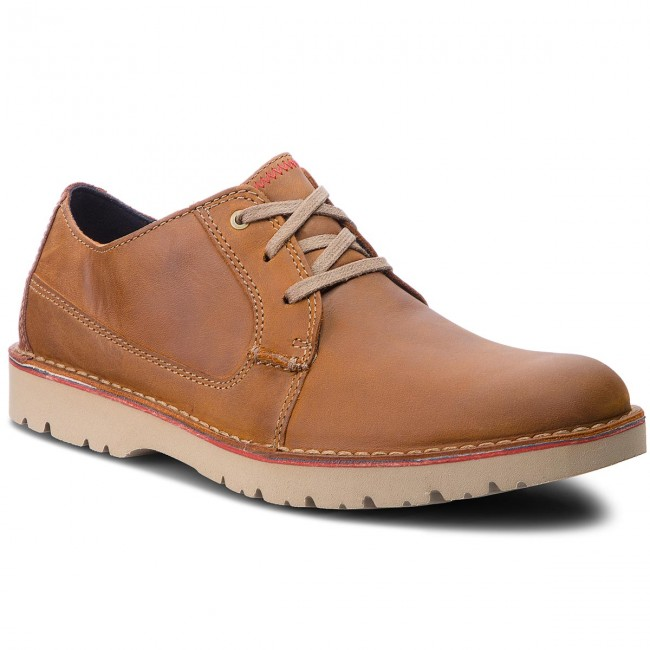 Félcipő CLARKS - Vargo Plain 261366767 Dark Tan Leather - Hétköznapi ... a92fdcddf0