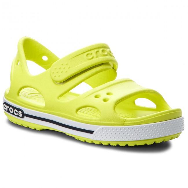 Szandál CROCS - Crocband II Sandal 14854 Tennis Ball Green White ... fbd5b880ff
