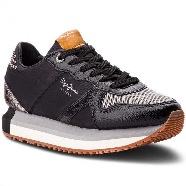Sportcipő PEPE JEANS - Zion Studs PLS30787 Black 999 - Sneakers ... 45ac928e9e
