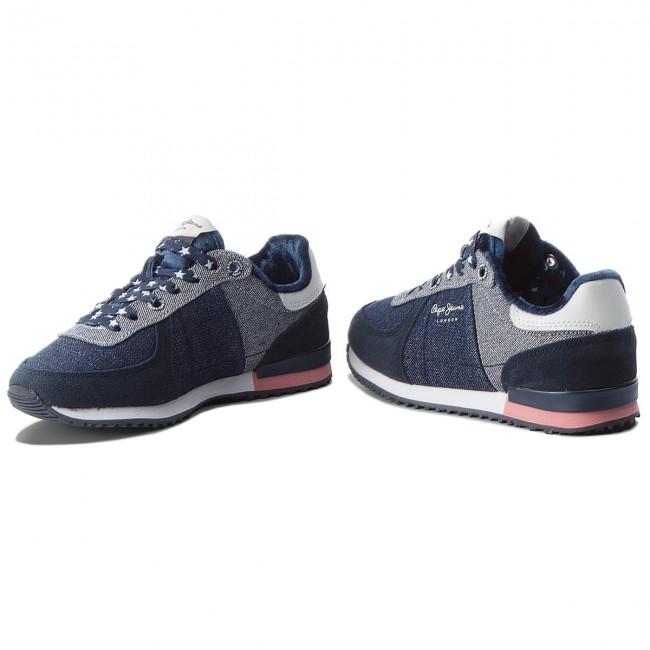 Sportcipő PEPE JEANS - Sydney Denim PGS30364 Navy 595 - Fűzős ... 94e2b50f63