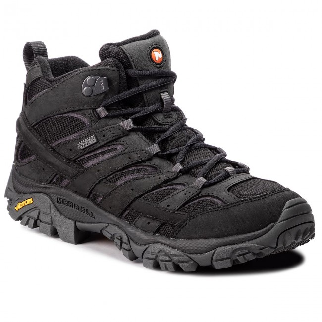56d710b959 Bakancs MERRELL - Moab 2 Smooth Mid Wp J42503 Black - Bakancsok ...