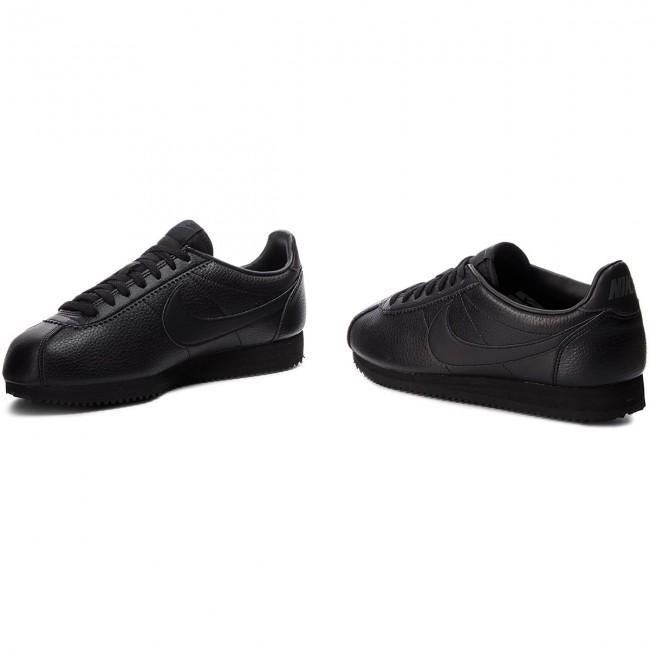 Cipő NIKE - Classic Cortez Leather 749571 002 Black/Black/Anthracite - Sneakers - Félcipő - Férfi wdiGR
