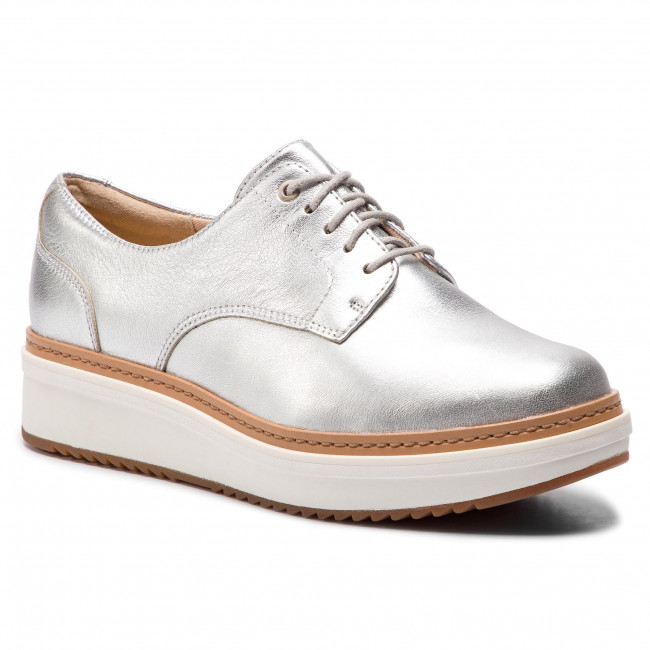 806cd403be Oxford cipők CLARKS - Teadale Rhea 261421614 Silver Metallic ...
