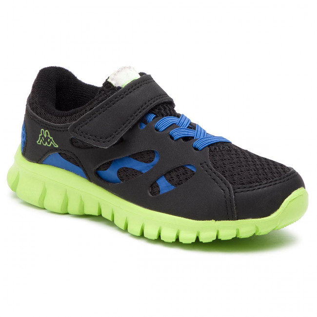 6dcdf8cbad85 Sportcipő KAPPA - Fox Light K 260476K Black/Blue 1160 - Tépőzáras ...