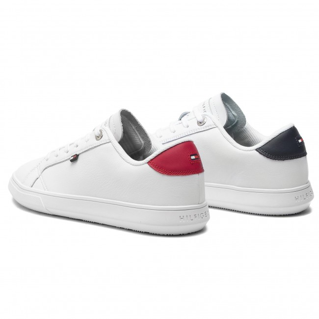 72cb48ccc3 Sportcipő TOMMY HILFIGER - Essential Leather Cupsole FM0FM01987 White 100