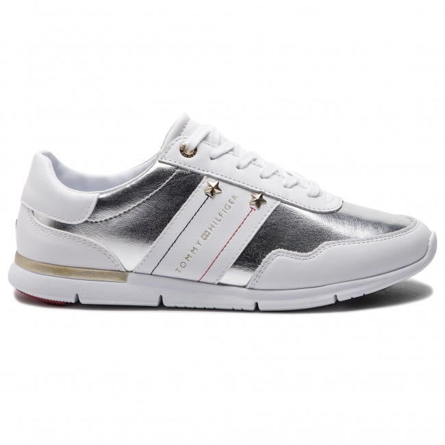 b1b0ee15f1 Sportcipő TOMMY HILFIGER - Tommy Essential Leather Sneaker FW0FW03688 White  100