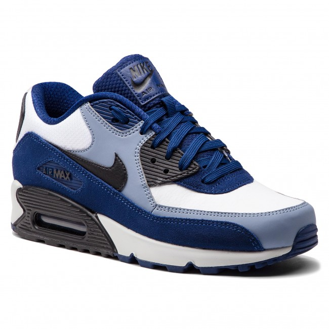 Cipő NIKE - Air Max 90 Leather 302519 400 Blue Void Black Ashen Slate 39b66ed3a8