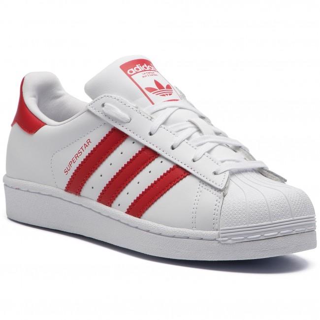 Cipő adidas - Superstar J CG6609 Ftwwht Scarle Scarle - Sneakers ... b3a1d06a88