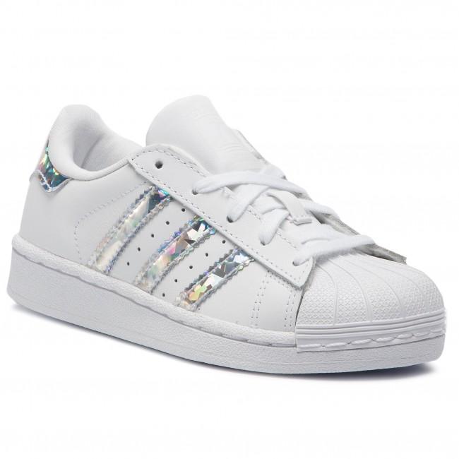 Cipő adidas - Superstar C CG6708 Ftwwht Ftwwht - Fűzős - Félcipő ... 90a8f895d9