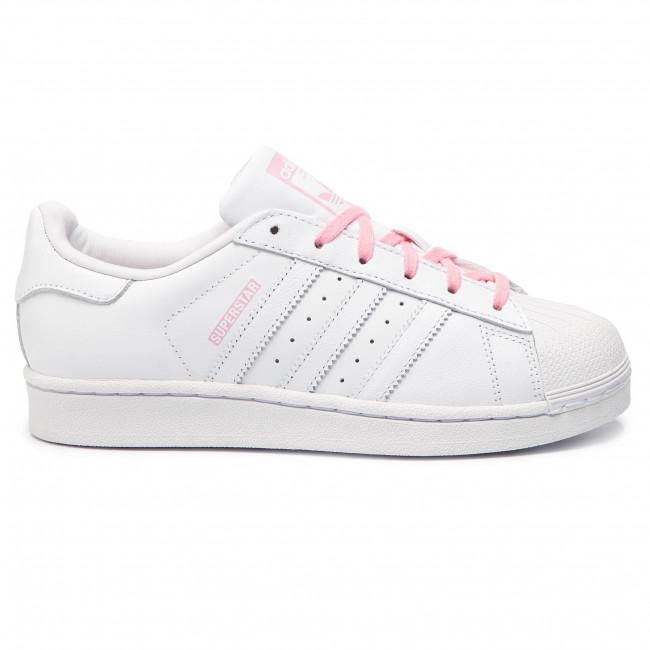 ed3b22e651 Cipő adidas - Superstar J CG6617 Ftwwht/Ftwwht/Ltpink - Fűzős ...