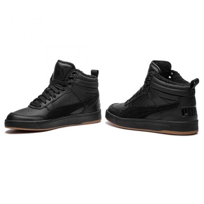 Sportcipő PUMA - Rebound Street V2 L Fur Jr 368197 01 Black Black Black 65e901fe1a