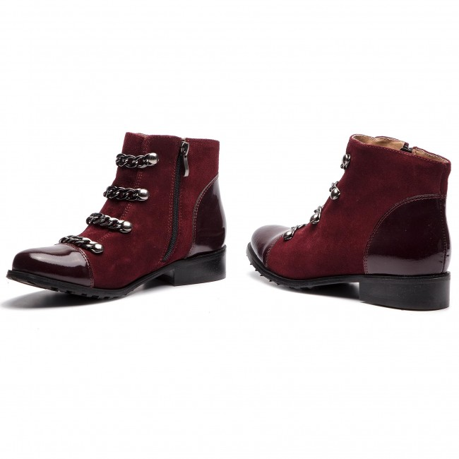 Magasított cipő EKSBUT - 68-5185-G86/K95-1G Bordo - Bokacsizmák - Csizmák és egyebek - Női KnTyl