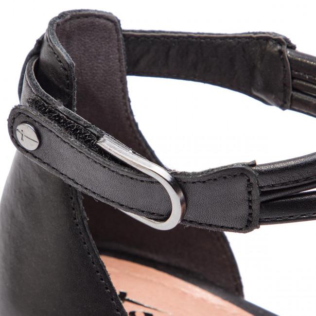 Szandál TAMARIS 1 28030 32 Black Leather 003 Magasított