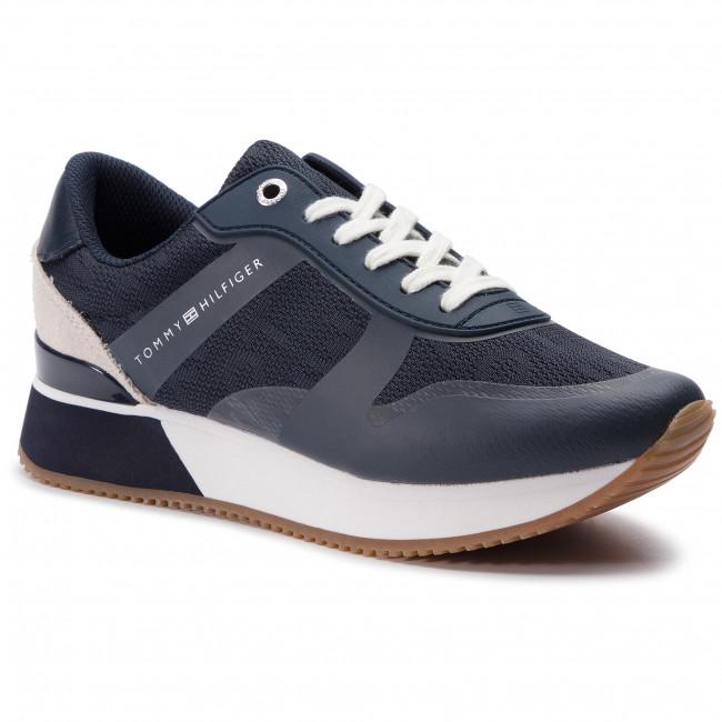 6dcff89036 Sportcipő TOMMY HILFIGER - Tommy Jacquard City Sneaker FW0FW04026 Midnight  403