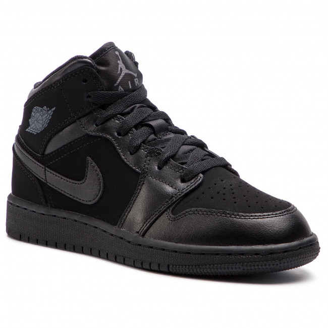 64cfa5787252 Cipő NIKE - Air Jordan 1 Mid (GS) 554725 050 Black/Dark Grey/Black ...