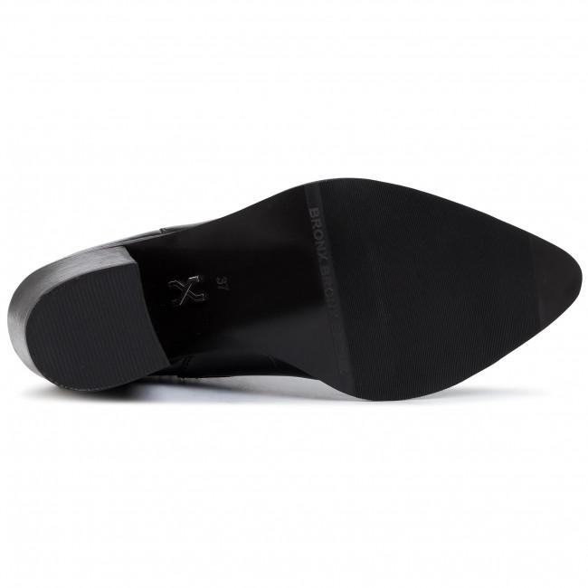 Magasított cipő BRONX - 34119-M BX1605 Black 01 - Bokacsizmák - Csizmák és egyebek - Női cThuZ
