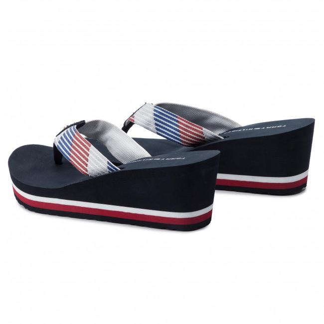9bd555574446 Vietnámi papucsok TOMMY HILFIGER - Glitter Webbing Mid Beach Sandal  FW0FW04244 Rwb 020