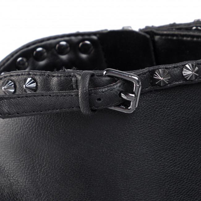 Magasított cipő GUESS - Orson FL8ORN LEA09 BLACK - Bokacsizmák - Csizmák és egyebek - Női fHWKq