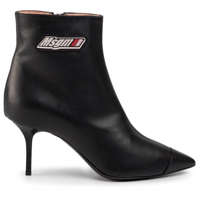 Magasított cipő MSGM - Tonchetto Donna 2741MDS6058 121 99 Fekete - Bokacsizmák - Csizmák és egyebek - Női KIOcV