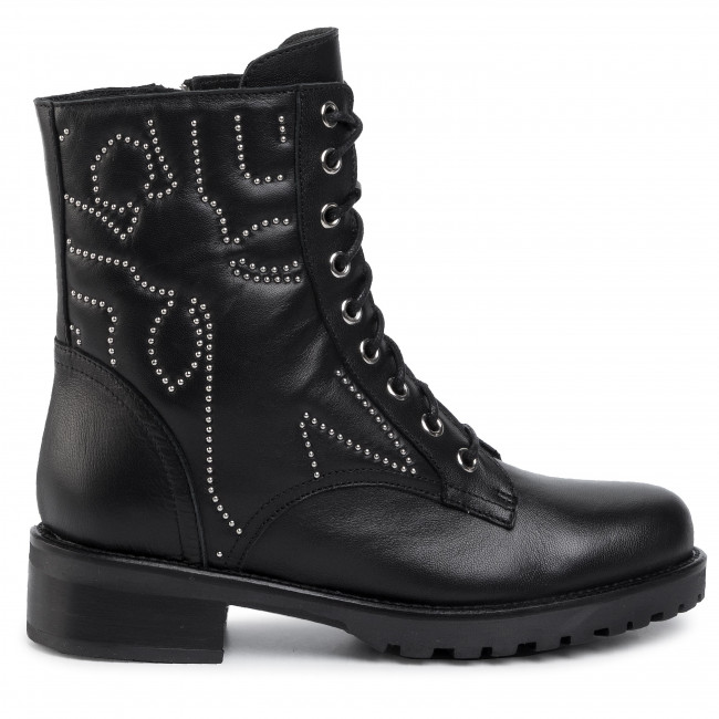 Magasított cipő PATRIZIA PEPE - 2V9150/A5W6-K103 Nero - Bokacsizmák - Csizmák és egyebek - Női WWK38