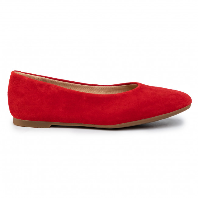 Balerina CLARKS Chia Viole t261463614 Red Suede
