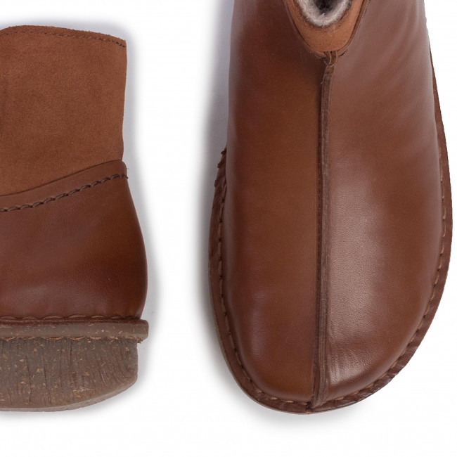 Magasított cipő CLARKS - Funny Mid 261446684 Dark Tan Combi - Bokacsizmák - Csizmák és egyebek - Női vbzz9