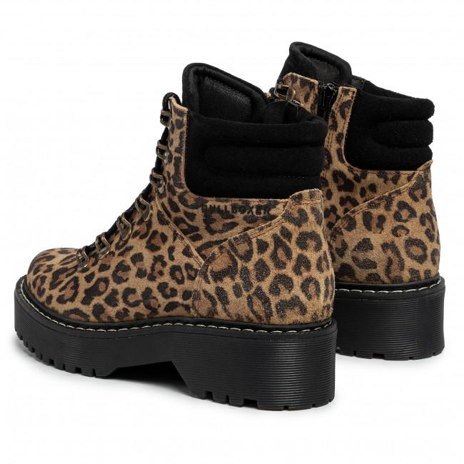 Magasított cipő BULLBOXER - 364501E6C Brown - Bokacsizmák - Csizmák és egyebek - Női a3iHX