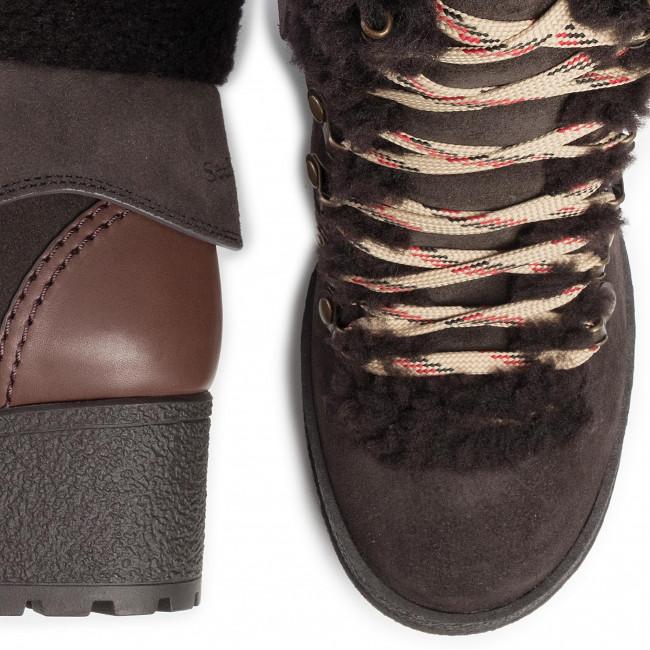 Magasított cipő SEE BY CHLOÉ - SB31121A Grafite/Natural Calf 545/Shearling 501 - Bokacsizmák - Csizmák és egyebek - Női RFM0b
