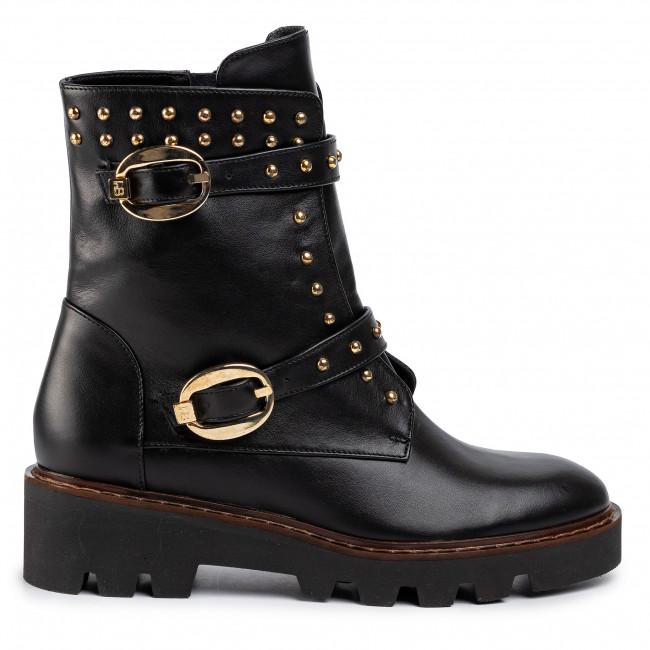 Magasított cipő BALDOWSKI - D02744-W157-002 Czarna Skóra - Bokacsizmák - Csizmák és egyebek - Női SIW0p