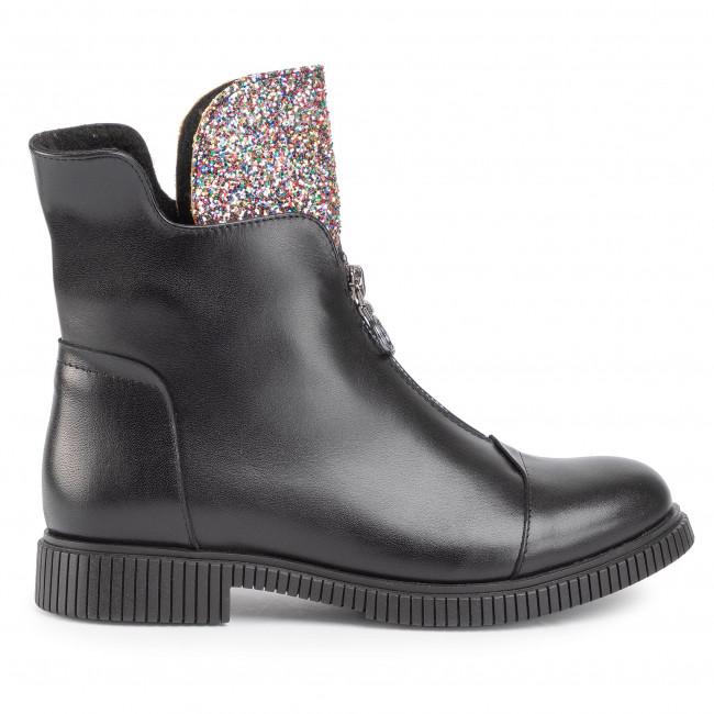 Magasított cipő BALDACCINI - 1225000 Czarny/Brokat Multikolor - Bokacsizmák - Csizmák és egyebek - Női d5W0K
