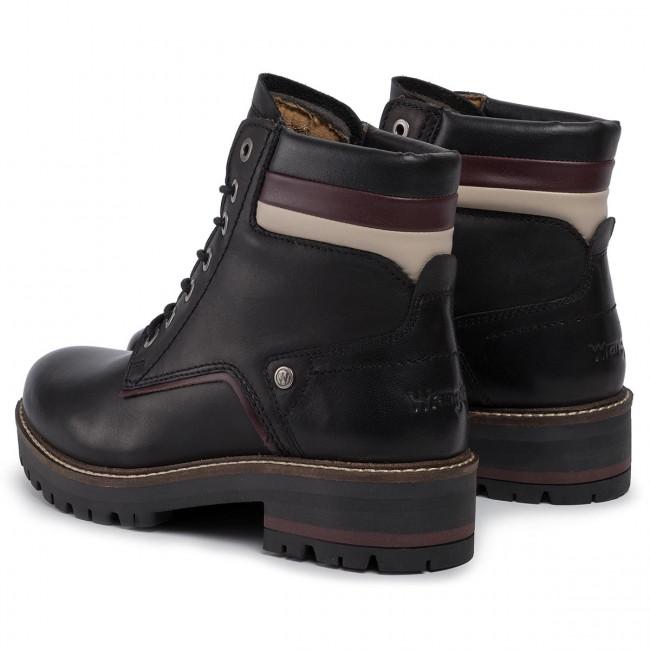 Bakancs WRANGLER - Denver Lace WL92521A  Black 062 - Bakancsok - Csizmák és egyebek - Női gnAFr