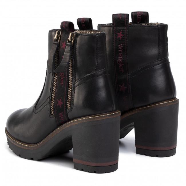 Magasított cipő WRANGLER - Seatte Zip WL92602A Black 062 - Bokacsizmák - Csizmák és egyebek - Női uqu5l
