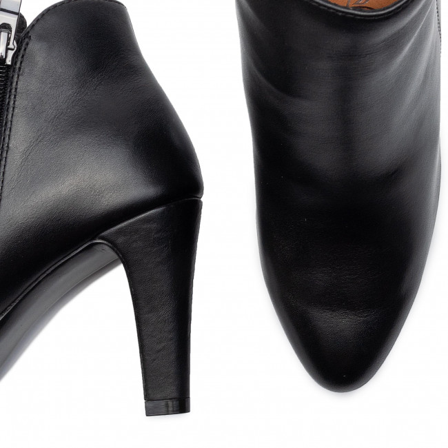 Magasított cipő CAPRICE - 9-25302-23 Black Nappa 022 - Bokacsizmák - Csizmák és egyebek - Női btXei