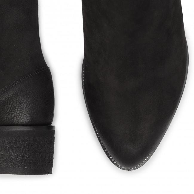 Magasított cipő EDEO - 3455-1125 Fekete - Bokacsizmák - Csizmák és egyebek - Női uYkaW