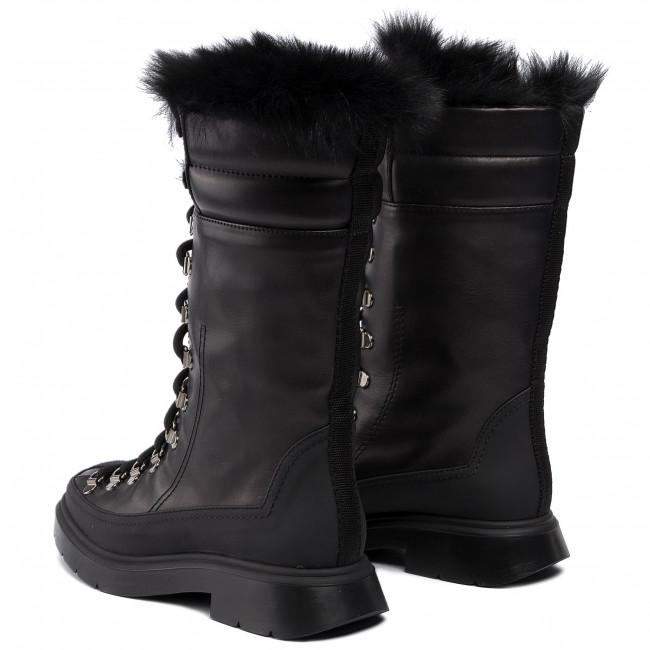 Magasított cipő STUART WEITZMAN - Jessie 1L23149 Black Sptclf/Lgshear - Bokacsizmák - Csizmák és egyebek - Női 4zVTr